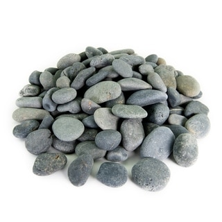 Mexican Beach Pebbles 40 lbs Smooth Round Stones Round Rock for Gardens, Landscape, Ponds, and Décor