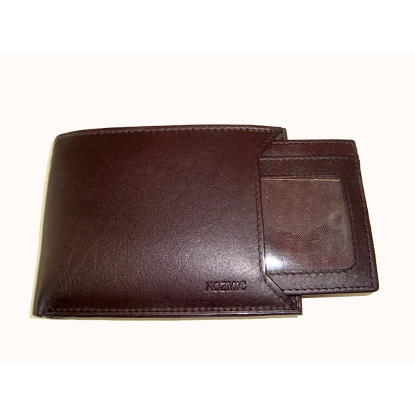 Kozmic Handcrafted Brown Leather Bifold Wallet