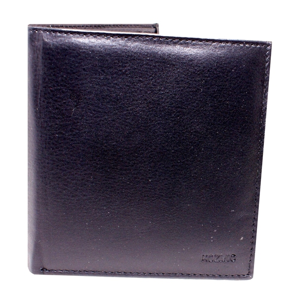 Kozmic Black Leather Wallet