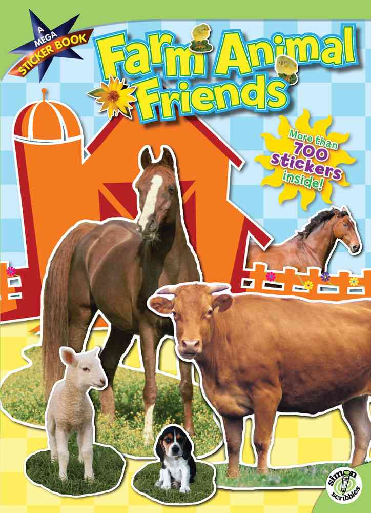 Farm Animals Friends: A Mega Sticker Book (Paperback)
