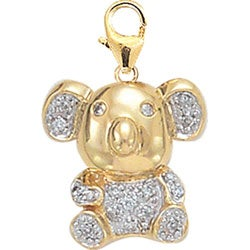14k Yellow Gold 1/10ct TDW Diamond Koala Charm