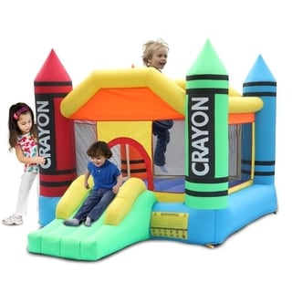 Kids Play Thick Oxford Cloth Inflatable Bounce House Castle Ball Pit Jumper - Color: Multicolor