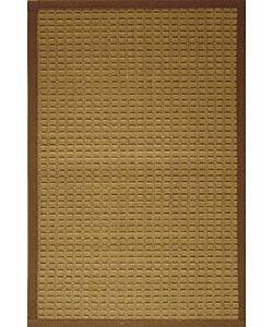 Brown Woven Bamboo Rug (5' x 7')