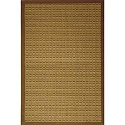 Brown Woven Bamboo Rug (5' Octagonal)
