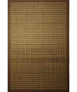 Tan Woven Bamboo Rug (5' x 7')