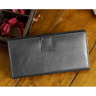 Black Leather Travel Wallet
