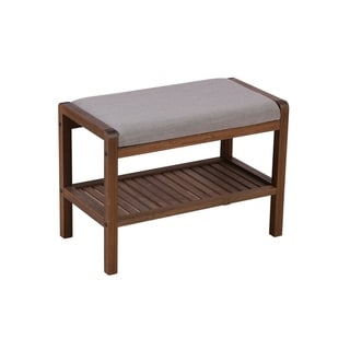 Solid Bamboo Padded Bench