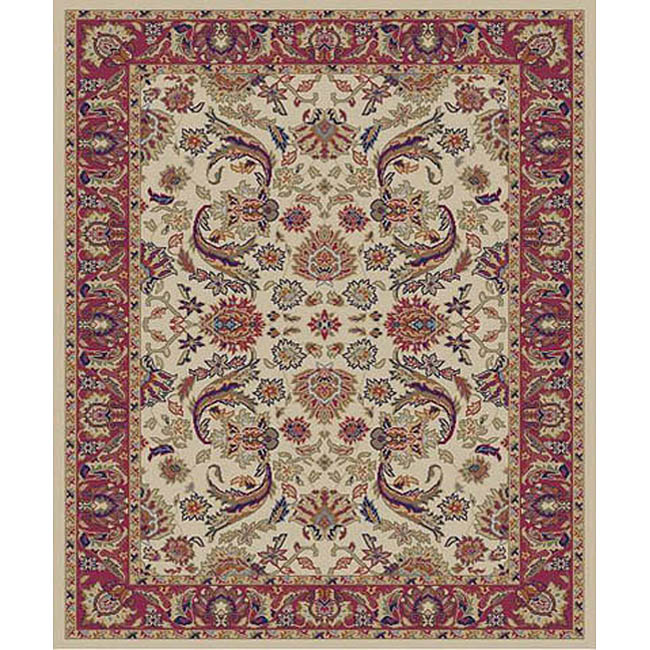 Sultanabad Ivory Rug (5'3 x 7'3)