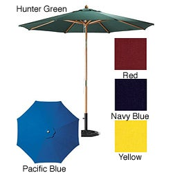 Premium 9-Foot Round Patio Umbrella with Heavy-Duty Stand