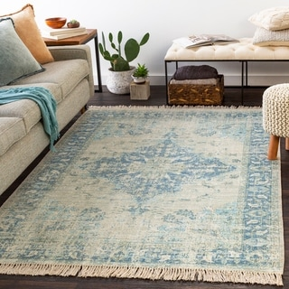 Shepard Handmade Boho Medallion Cotton Blend Area Rug