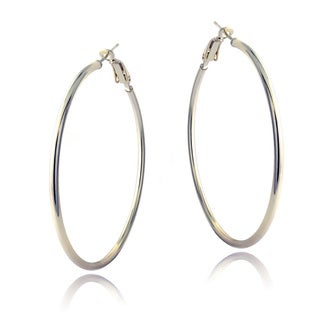 Mondevio Sterling Silver 45 mm Hoop Earrings