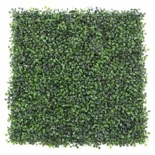 "20 x 20"" 12 Piece Artificial Plant Hedge Mat Screen"