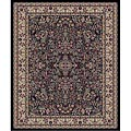 Black Sarouk Area Rug (3'11 x 5'3)