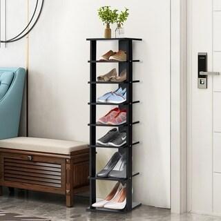 7-Tier Compact Shoe Rack Free Standing Storage Organizer Shelves