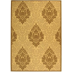 Safavieh Indoor/ Outdoor St. Barts Natural/ Brown Rug (5'3 x 7'7)