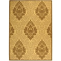 Indoor/ Outdoor St. Barts Natural/ Brown Rug (5'3 x 7'7)