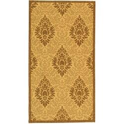 Safavieh Indoor/ Outdoor St. Barts Natural/ Brown Rug (2' x 3'7)