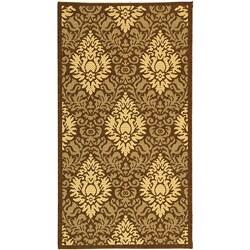 Safavieh Indoor/ Outdoor Crescent Chocolate/ Natural Rug (2' x 3'7)