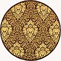 Indoor/ Outdoor Crescent Chocolate/ Natural Rug (5'3 Round)