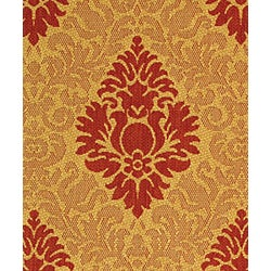 Safavieh Indoor/ Outdoor St. Barts Natural/ Red Rug (2'7 x 5')