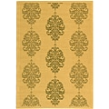 Indoor/ Outdoor St. Martin Natural/ Olive Rug (4' x 5'7)