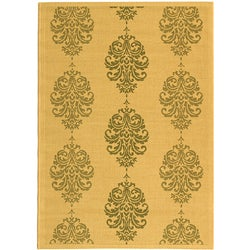 Safavieh Indoor/ Outdoor St. Martin Natural/ Olive Rug (5'3 x 7'7)