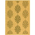 Indoor/ Outdoor St. Martin Natural/ Olive Rug (5'3 x 7'7)