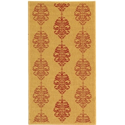Safavieh Indoor/ Outdoor St. Martin Natural/ Red Rug (2'7 x 5')