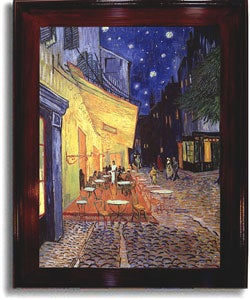 Van Gogh 'Cafe Terrace at Night' Framed Canvas Art