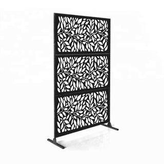 6x4-foot Free-standing Laser-cut Metal Privacy Screen Panel