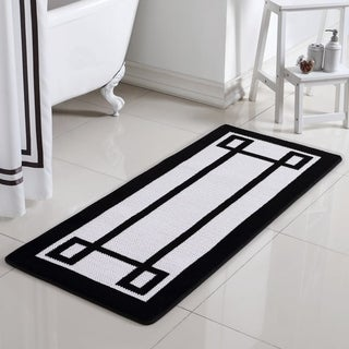Greek Key Oversized 2-Tone Memory Foam Bath Rug Runner