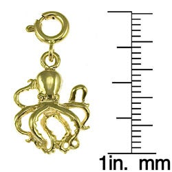 Octopus 14k Yellow Gold Charm