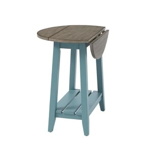 Solid Wood Drop Leaf End Table