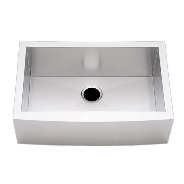 27 Apron Sink : Stainless Steel 30-inch Farmhouse Single Bowl Flat Apron Kitchen Sink