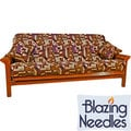 Blazing Needles 3-piece Chenille Futon Cover Set