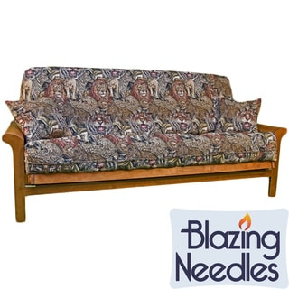 Blazing Needles Tapestry Futon Cover 3-piece Set