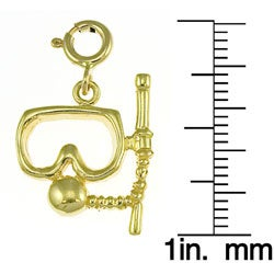 14k Yellow Gold Diving Mask Charm