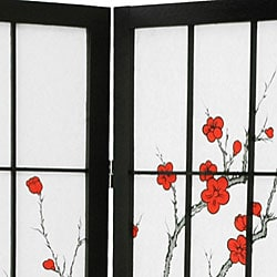 Wood and Rice Paper Cherry Blossom Shoji Screen (China)