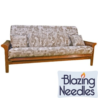 Blazing Needles Jacquard 3-piece Futon Cover Set