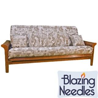 Blazing Needles Jacquard 3-piece Futon Cover Set