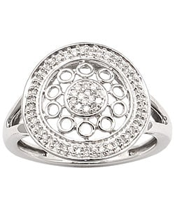 Sterling Essentials Sterling Silver 1/6ct TDW Diamond Sara Ring (H-I, I1)
