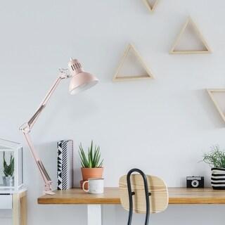 Porch & Den Del Ray Matte Rose 31.5-inch Swing-arm Architect Desk Lamp