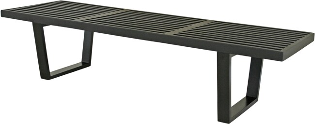Slat Bench in Black