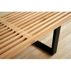 Slat Bench in Natural
