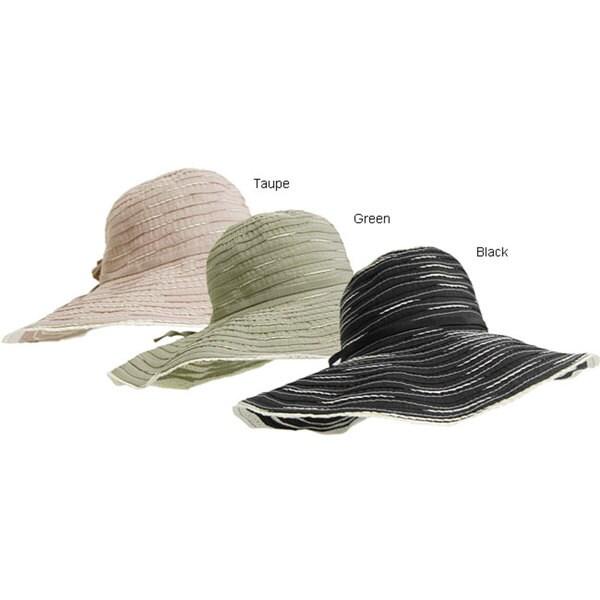 Brim Spiral Ribbon Sun Hat