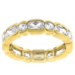 Kate Bissett Stackable Goldtone Bezel CZ Eternity Band