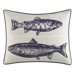 Eddie Bauer Salar Navy Decorative Throw Pillow