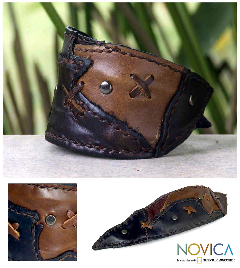 'Crisscross' Leather Bracelet (Thailand)