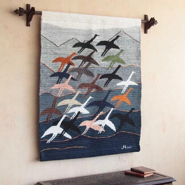 'Flying High' Wool Tapestry (Peru)