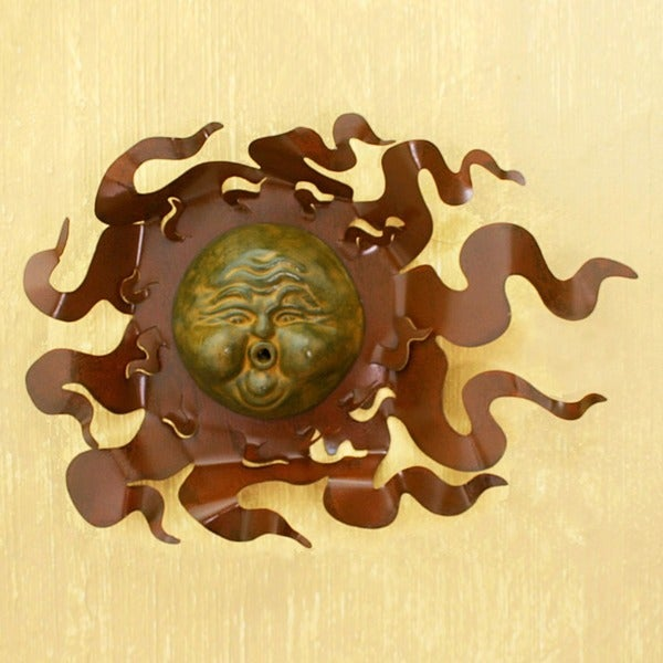 Iron and Ceramic 'Gust of Sun' Wall Adornment (Mexico)